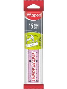 Maped Lineal Study 15cm Pink